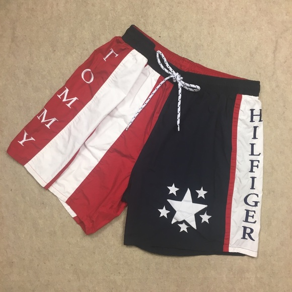 deb5adfd2c306 Vintage Tommy Hilfiger Mens Swim Trunks Spell Out.  M_5a5cf1e461ca1016eece3496